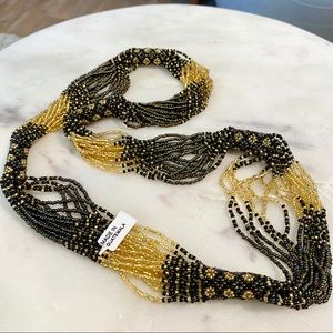 Vintage Multi Strand Guatemalan Seed Bead Necklace